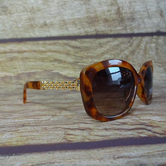 497c614540d6a Nine West Sunglasses Cat Eye Turtle Marble Gold